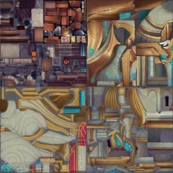 日韩卡通Q版动作冒险类手绘场景3D模型 3dmax源文件 游戏美术素材