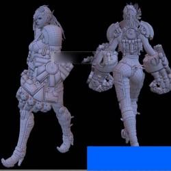 ZBRUSH结合maya制作科幻女角色次世代建模贴图绘制模型制作教程