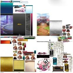 次元神姬 日系水墨风手游 UI素材图标立绘Q版动画序列帧音效