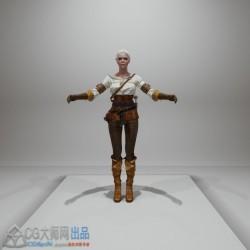 巫师3女性角色虚幻4模型