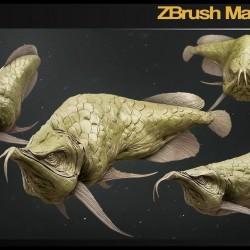 深海鱼模型雕刻教程