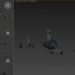 [3D资源] 破损场景废墟破碎柱子
