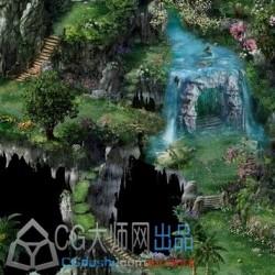 [45度角] 各种3渲2游戏场景建筑截图参考【梦幻诛仙】