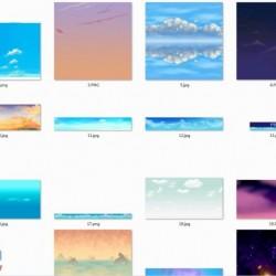 手绘的天空贴图,绝对高清