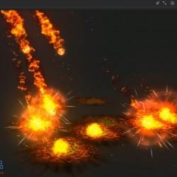 [unity3d特效] 流星火雨,源文件