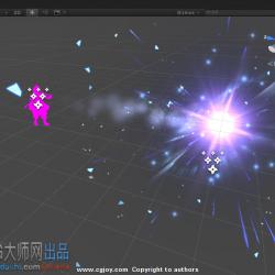 [unity3d特效] 一个冰块冲击的效果(源文件)