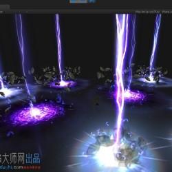 [unity3d特效] 一个闪电效果(源文件)雷霆万钧