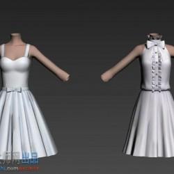 二次元角色模型闪耀暖暖3D角色模型 次世代游戏模型带骨骼动画 模型已整理