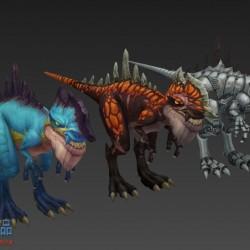 3只恐龙模型【幻想神域】