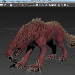 怪物猎人 怪兽3D四个怪角色模型