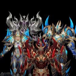 大型MMORPG手绘超高质量欧美写实魔幻奇迹风主角套装 47套