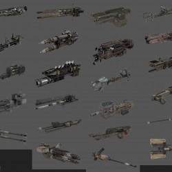 游戏机甲世界概念机甲 武器 模型