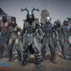 带PBR的兽人包 PBR Characters Orcs