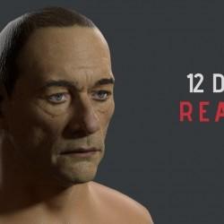 12天的現實主義风角色人物尚格 云顿 3d角色制作流程