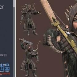 射手 战士 人物模型 动作