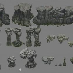 大厂的一些石头石墙其中包含PSD源文件