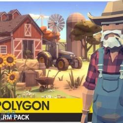 POLYGON - Farm Pack 1.1 低边形农场景建筑车辆人物植物道具模型