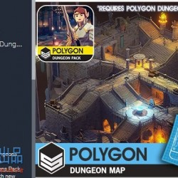 LOWPOLY POLYGON Dungeons Map