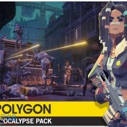 POLYGON - Apocalypse Pack 1.07 低多边形人物角色道具建筑场景