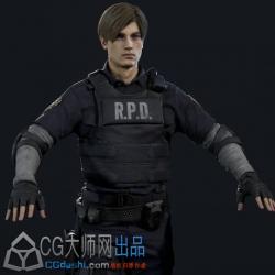 生化危机2重制版 里昂 克莱尔 汉克 角色模型 resident evil 2