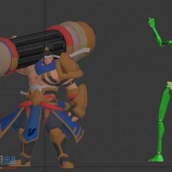 苏烈出场动画源文件MAX文件+BIP骨骼+模型贴图
