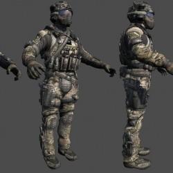 使命召唤9:黑色行动2 Call of Duty Black Ops2 角色武器载具模型合集 PBR