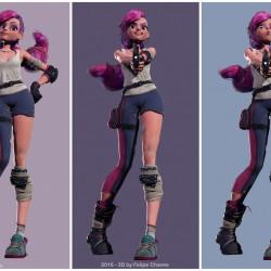 疯狂女孩3D模型