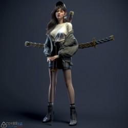 国人3D艺术家Junsheng Xu作品欣赏95p 卡通 写实 角色 美女