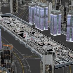科幻场景 建筑 军事区 都市基地