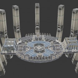 科幻场景 建筑 太空基地 补给站