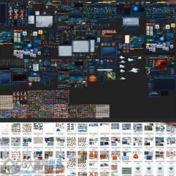 神雕手游UI全套资源素材UI+PSD文件+原画+地图+音效
