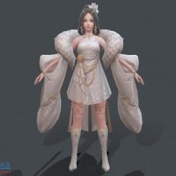 三个超美的中国风仙女模型下载