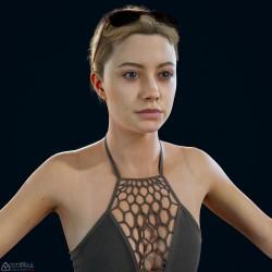 [黑相集] 高精度 PBR 女性模型 Julia