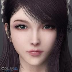 古风 高模 美女头像 模型