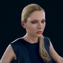 [底特律:变人] 高精度 PBR 女性模型 - 蓝色套装