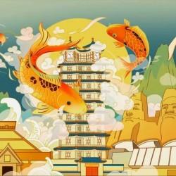 【商业插画】(唯库)行走的爆款国潮新国风