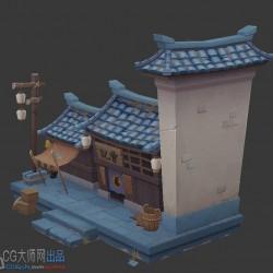 一个非常不错的的中国风Q版建筑3d模型,分享给大家换点币