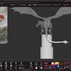 Zbrush大师级巨龙超精细雕刻实例制作视频教程