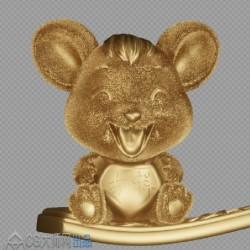 """吉祥安康""""鼠""""于您—3D金鼠模型"""
