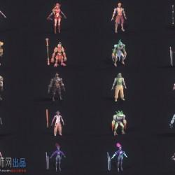 赛博朋克格斗游戏【金属对决】格斗人物模型