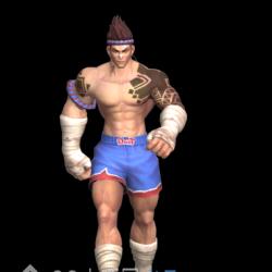 人物特效肌肉拳击男