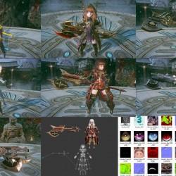 韩国新游《Project V4》枪炮职业全套时装-动画-PBR-Unity-MAX-FBX