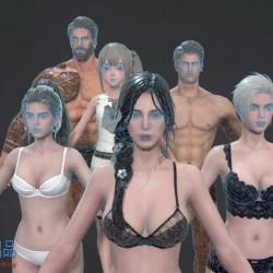 Darkness Rises 素体 裸模 人体 主角模型 头部
