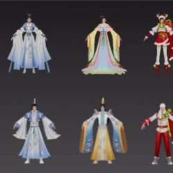中国仙侠仙侠风主角时装3d模型