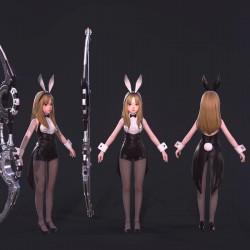 可爱日韩小萝莉 兔女郎 弓箭手 女仆