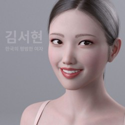 FBX格式 Daz 3D亚洲高精度女性模型Kim Seohyun for Genesis 8 Female
