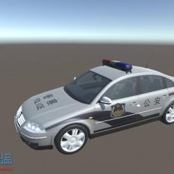 高精度中国大众警车u3d 模型
