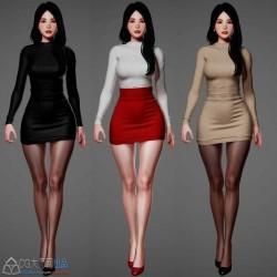 黑丝大长腿+紧身毛衣 是不是你想要的美女模型