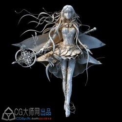 唯美二次元少女模型