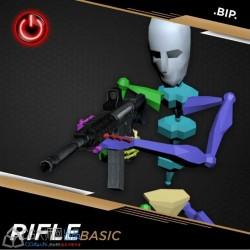 国外动态捕捉 步枪动画源文件BIP格式